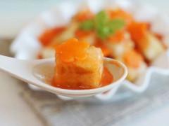 """Meo hay cho cách làm đậu phụ sốt cà rốt ngon """"chảy nước miếng"""""""